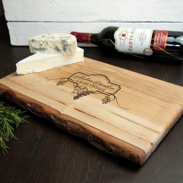Personalised Rustic Wine & Cheese Platter – Name