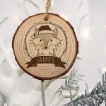 Personalised Woodland Fox Christmas Tree Decoration