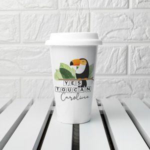 Personalised Personalised Yes Toucan Eco Travel Mug