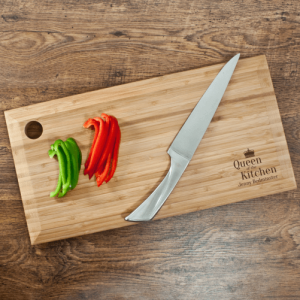 Personalised Bamboo Chopping Board – Queen of the Kitchen