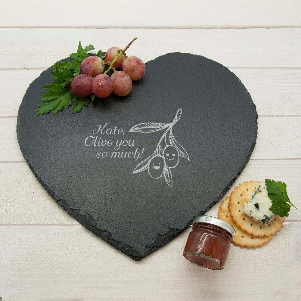 Personalised Slate Cheese Board – Olive you so Much