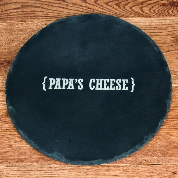 Personalised Slate Cheese Board – Name Swirl