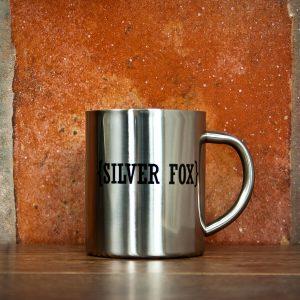 Personalised Outdoor Mug with Swirl Brackets