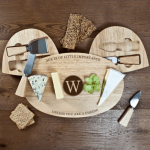Personalised Cheese Board Set – The Importance of Age (Wood)