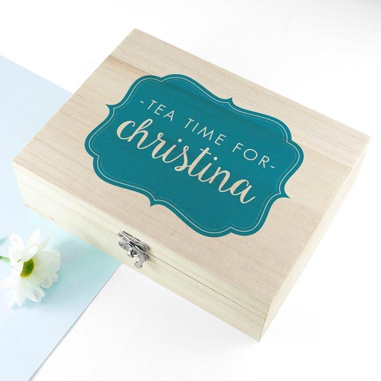 Personalised Tea Box – Time for Tea