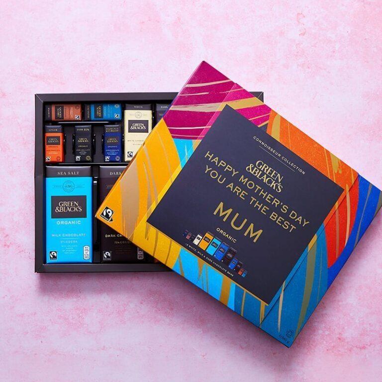 Personalised Box of Green and Blacks Chocolates – 560g