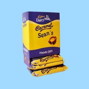 Personalised Box Of Cadbury Caramel Chocolate Bars x20