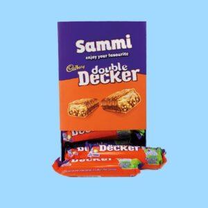 Personalised Box Of Cadbury Double Decker Chocolate Bars x20