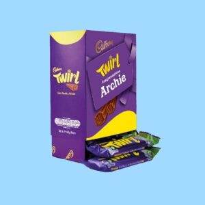 Personalised Box Of Cadbury Twirl Chocolate Bars x20