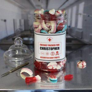 Personalised Edible Body Parts Sweet Jar