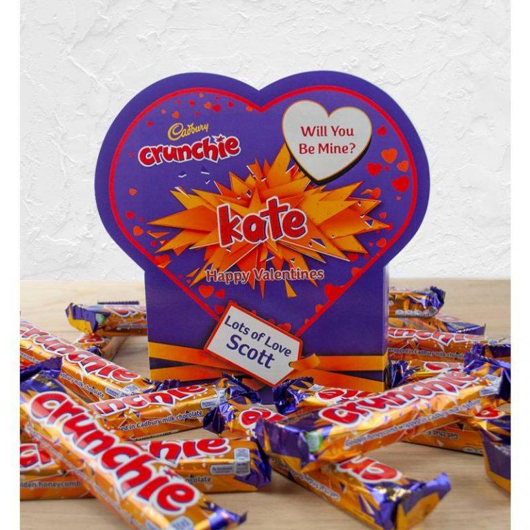Personalised Valentines Box Of Cadbury Crunchie x20