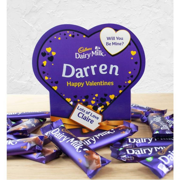 Personalised Valentines Box Of Cadbury Dairy Milk x20