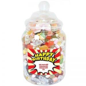 Personalised Birthday Sweet Jar