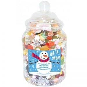 Personalised Snowman Sweet Jar