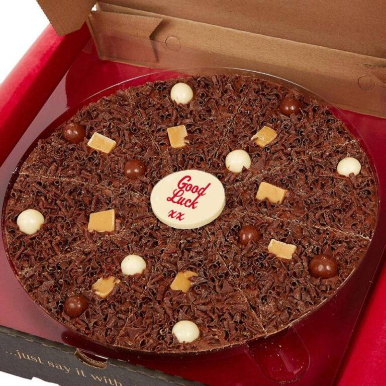 Personalised Heavenly Honeycomb 10 inch Chocolate Pizza