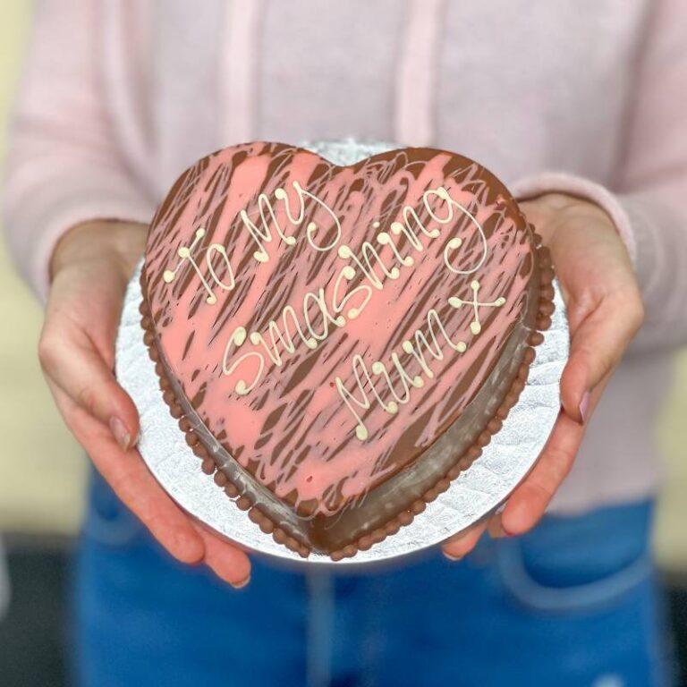 Personalised Chocolate Pink Smash Heart