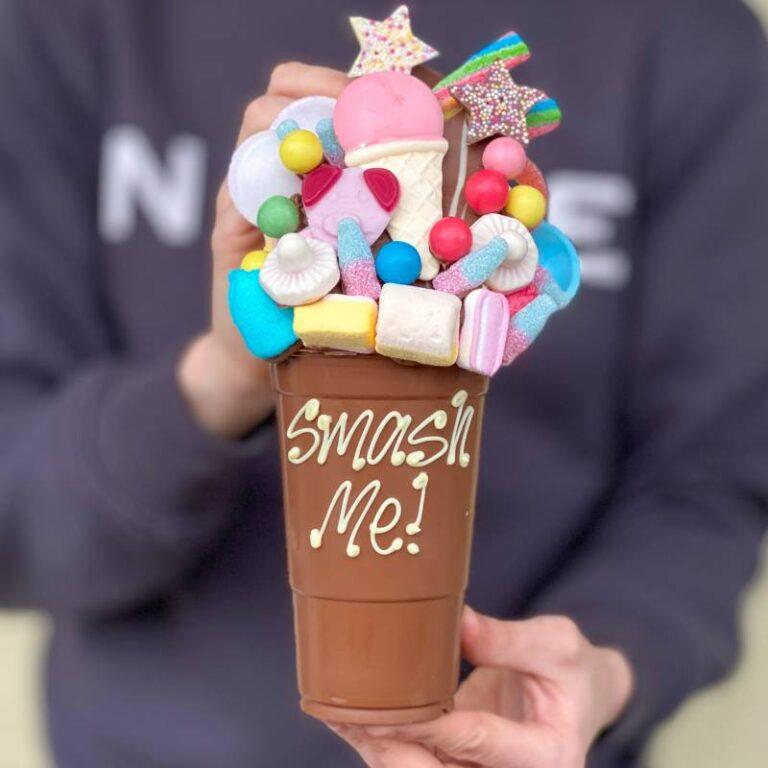 Personalised Belgian Chocolate & Sweets Smash Cup