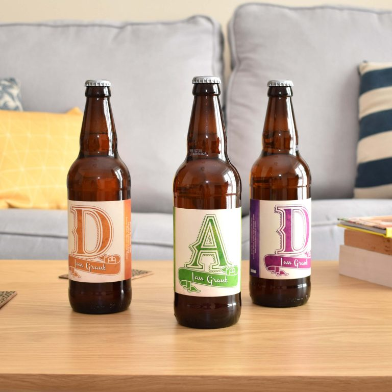 Personalised Beer 3 pack D-A-D Set label