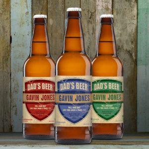 Personalised Beer 3 pack Dad's Beer Set label