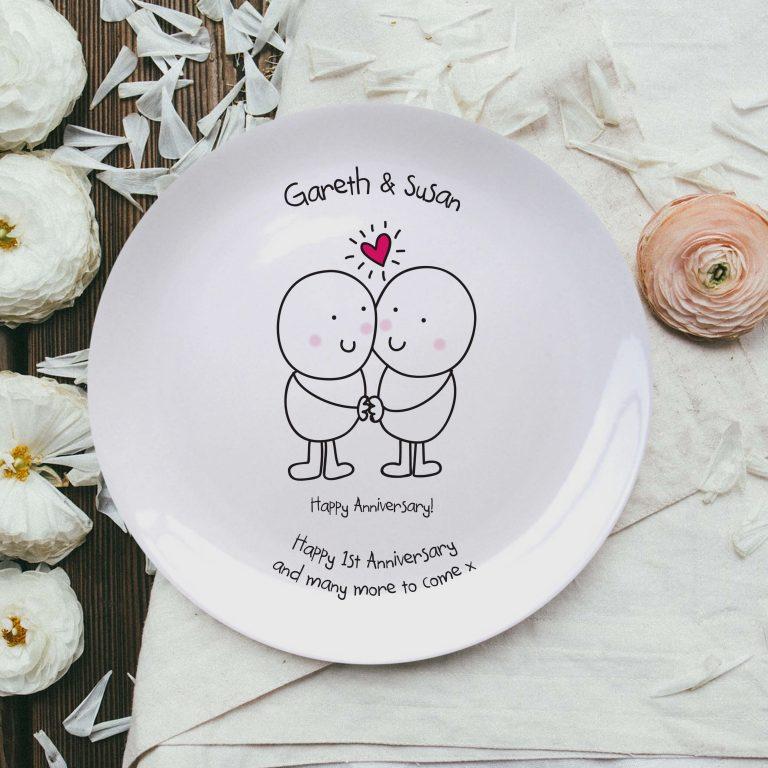 Personalised Chilli & Bubble's Anniversary Plate