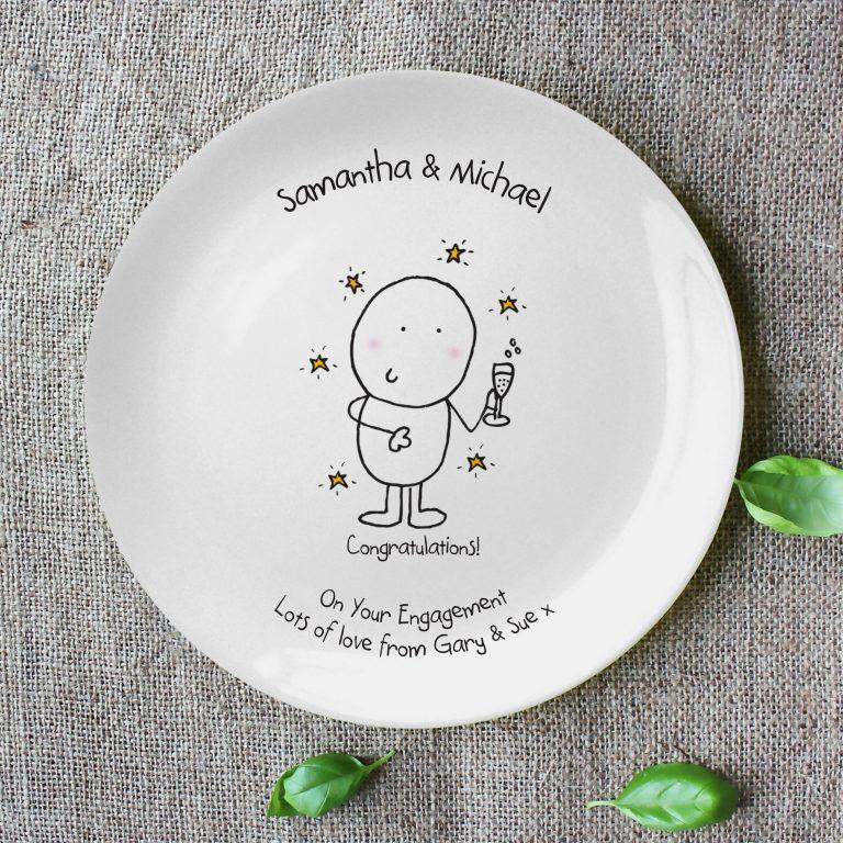 Personalised Chilli & Bubble's Congratulations Plate