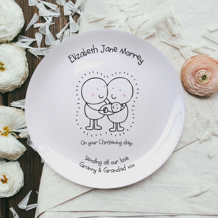 Personalised Chilli & Bubble's Christening Plate