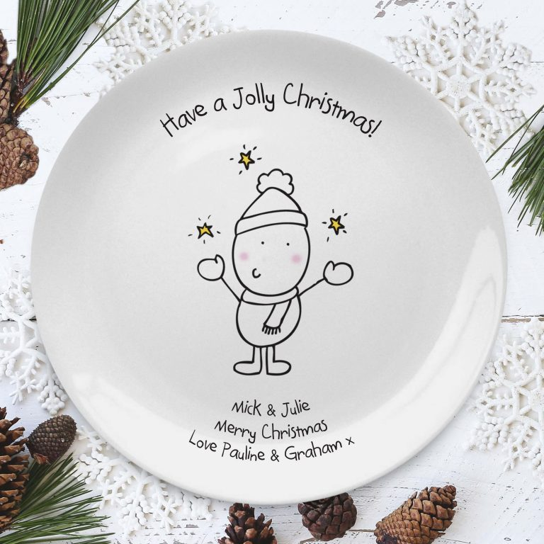 Personalised Chilli & Bubble's Jolly Christmas Plate