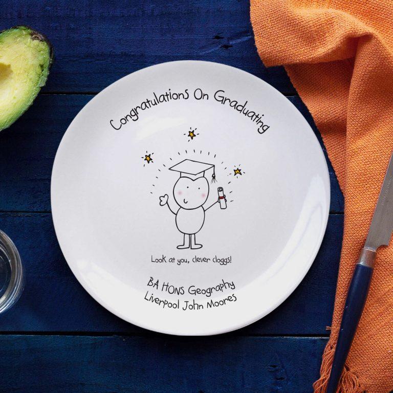 Personalised Chilli & Bubble's Graduation Plate