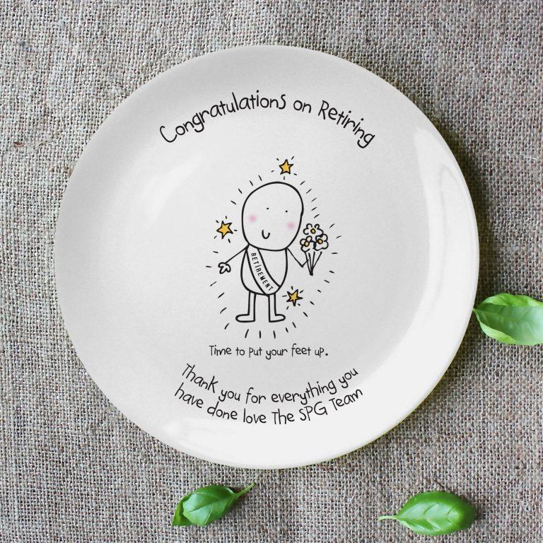 Personalised Chilli & Bubble's Retirement Plate