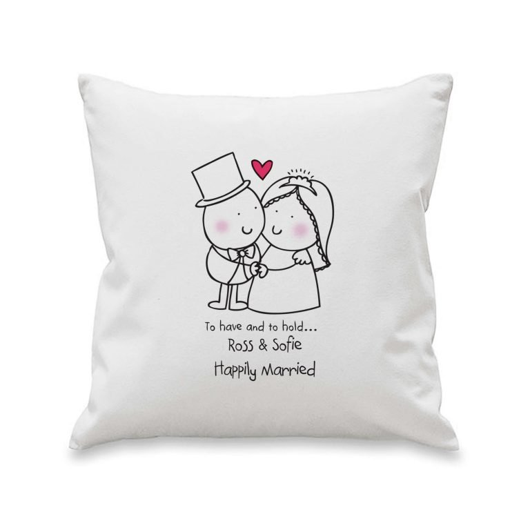 Personalised Chilli & Bubbles To Have & To Hold Cushion Cover
