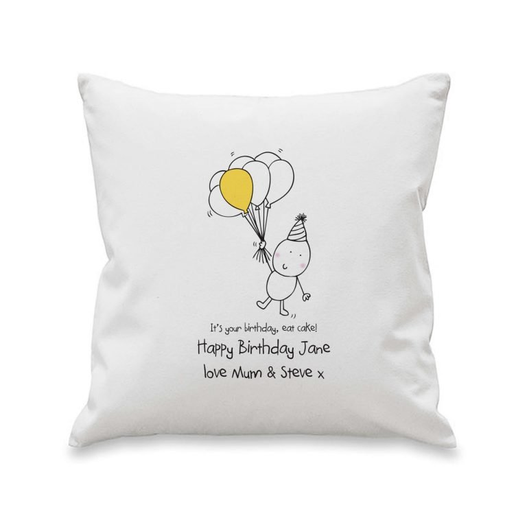 Personalised Chilli & Bubbles Birthday Cushion Cover