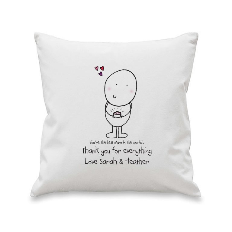 Personalised Chilli & Bubbles Mother's Day Cushion Cover