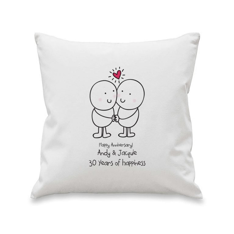 Personalised Chilli & Bubbles Anniversary Cushion Cover