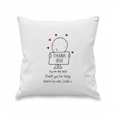 Personalised Chilli & Bubbles Thank You Cushion Cover