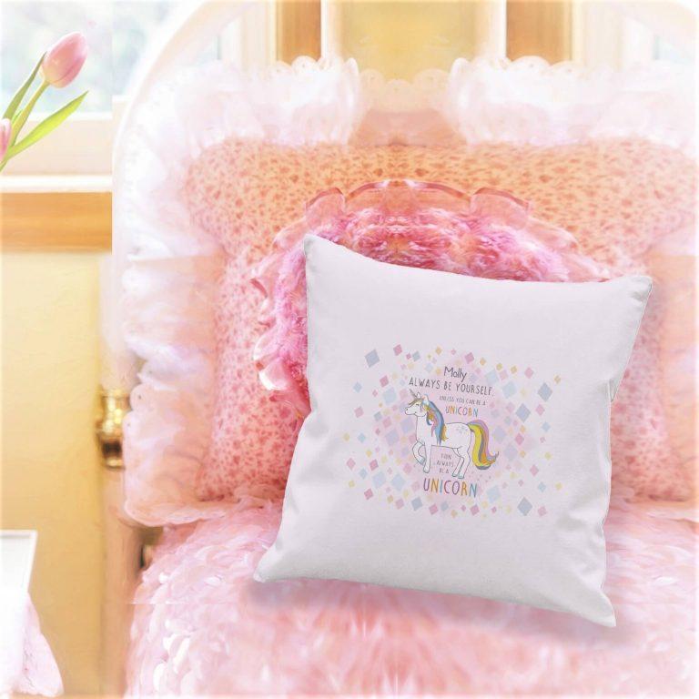 Personalised Always Be A Unicorn Cushion