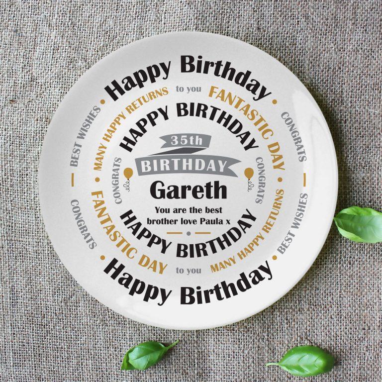 Personalised Birthday Celebration Plate