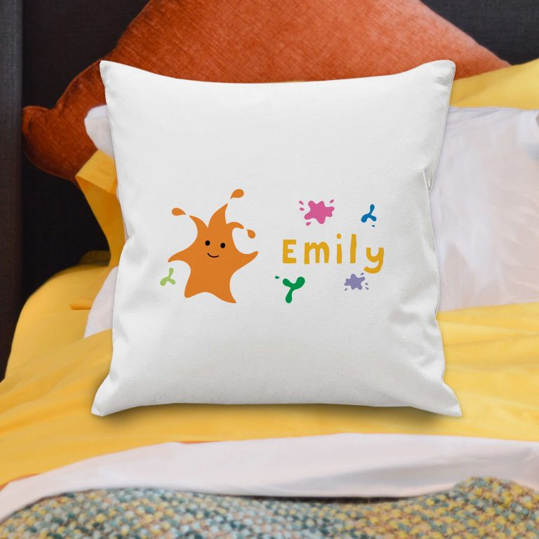 Personalised Arty Mouse Single Character Cushion Cover