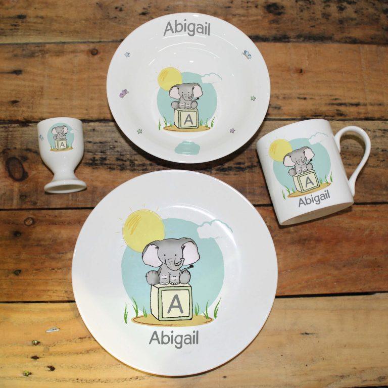 Personalised Elephant Safari Breakfast Set