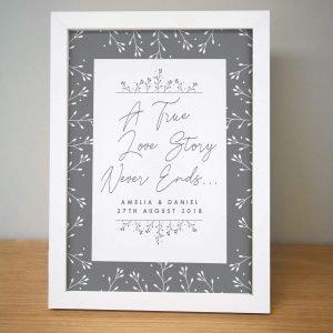 Personalised True Love Story Framed Print