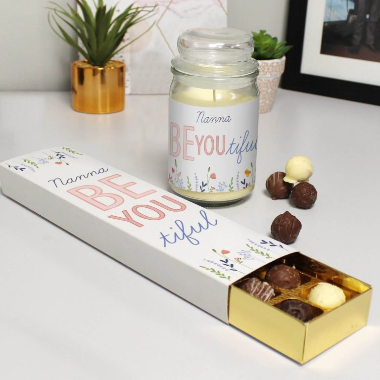 Personalised Be You Candle Jar & Truffles