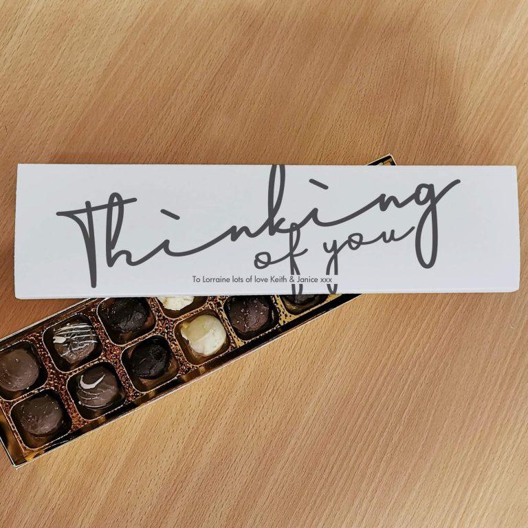 Personalised Thinking Of You Handmade Truffles