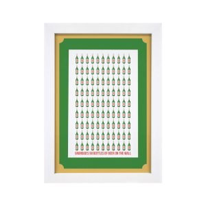 Personalised 99 Bottles Of Beer A4 Framed Print
