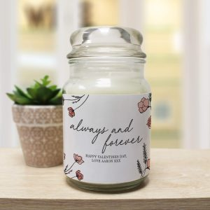 Personalised Always & Forever Candle Jar
