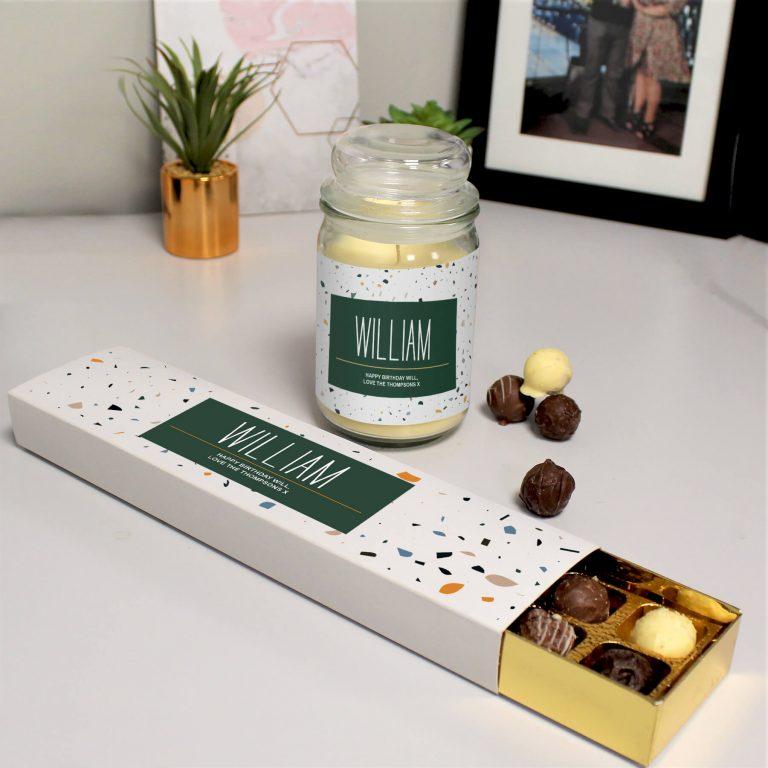 Personalised Generic Candle Jar & Truffles Set