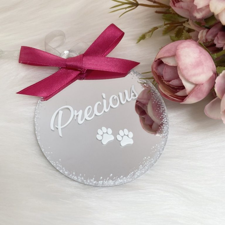 Personalised 'Pet' Christmas Bauble – Silver
