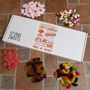 Personalised Letterbox Sweets – Be My Valentine