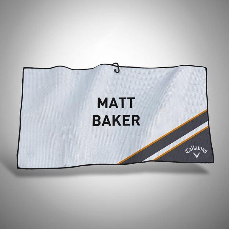 Personalised Callaway Golf Lumi 2.0 Players Towel