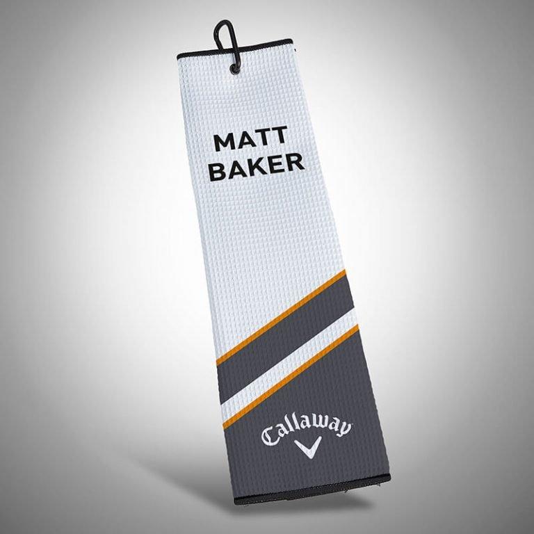 Personalised Callaway Golf Lumi 2.0 Tri-Fold Towel