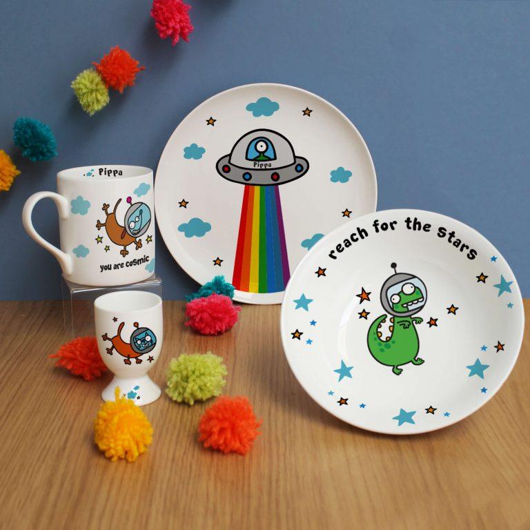 Personalised Cosmic Breakfast Set