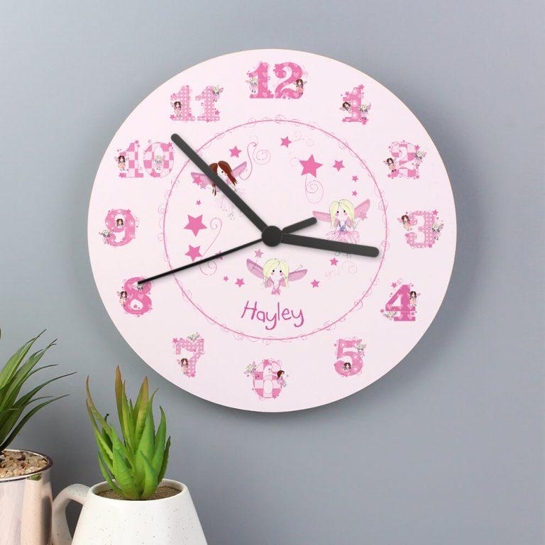 Personalised Fairy Clock